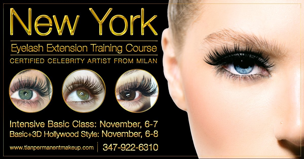 eyelash extension training course in new york - tian studio