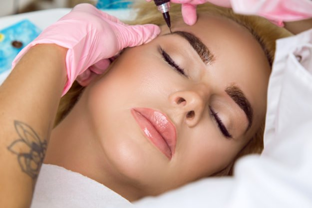 All techniques for permanent makeup eyes procedure. Eyeliners, Lash line, Eyeshadow.